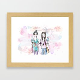 Unicorn Vibes Framed Art Print