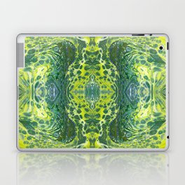 Psycho - Sea Turtle Illusions Swimming in a Yellow Happy Place by annmariescreations Laptop & iPad Skin