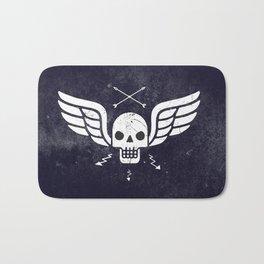 Death Rider Winged Skull with Arrows Bath Mat