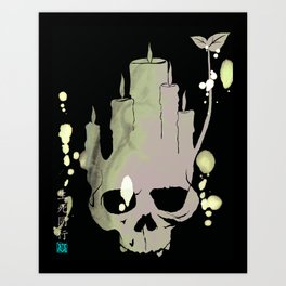 Death is Reborn/Reborn is Death Art Print