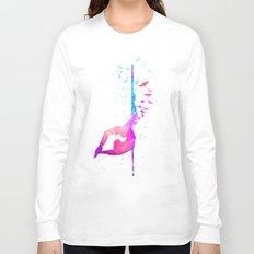 watercolor pole dance 2 Long Sleeve T-shirt