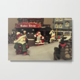 Santa Checking his List Metal Print