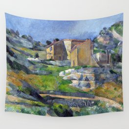 1883 - Paul Cezanne - Houses in Provence, The Riaux Valley near L'Estaque Wall Tapestry
