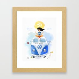 California yoga  Framed Art Print