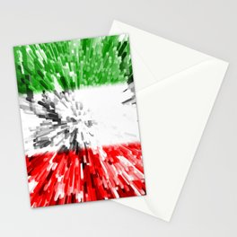 Extruded Flag of Italy Stationery Cards