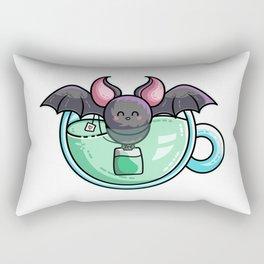 Kawaii Cute Bat-Tea Batty Pun Rectangular Pillow