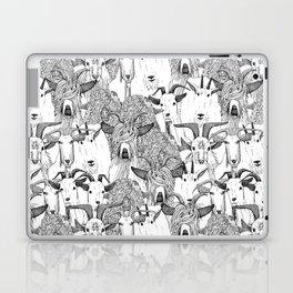 just goats black white Laptop & iPad Skin