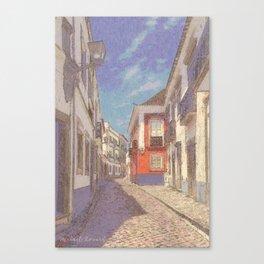 Portugal, a narrow street in Tavira Canvas Print
