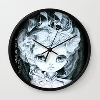 marie antoinette Wall Clocks featuring Marie Antoinette by ZELYSS