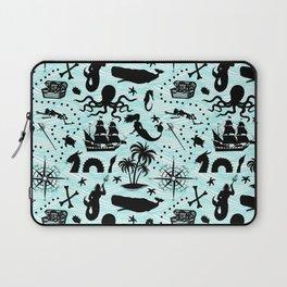 High Seas Adventure // Teal Waves Laptop Sleeve