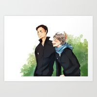 haikyuu Art Prints featuring Haikyuu!! Daisuga by Arisu