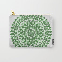 Mandala Green on Japanese Rice Paper Carry-All Pouch
