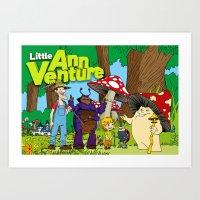 Little Ann Venture and the banana flavoured roadblock Art Print