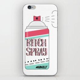 Vanilla spray iPhone Skin
