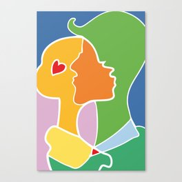 L0ve Canvas Print