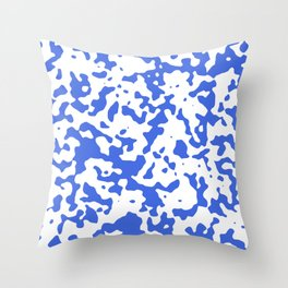 Spots - White and Royal Blue Throw Pillow