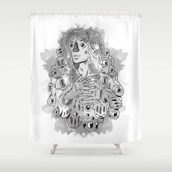 """I Never Learn"" by Jacob Livengood Shower Curtain"