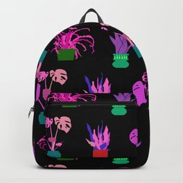 Simple Potted Plants in Black Backpack