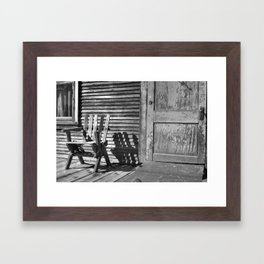 Vintage porch Framed Art Print