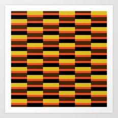 Orange stripe pattern Art Print