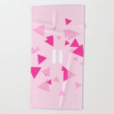 Opposite III Pause Pink Beach Towel
