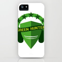 GREEN HUNTER iPhone Case