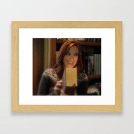 Alice Reads Framed Art Print