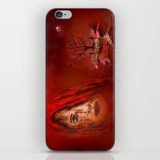 Lady in red - Island iPhone & iPod Skin