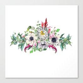 Gentille set 13 watercolor handpainted clipart, floral, flower, design, stylish, wedding, invitation Canvas Print