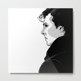 Sherlock by Sketchy Reputation Metal Print
