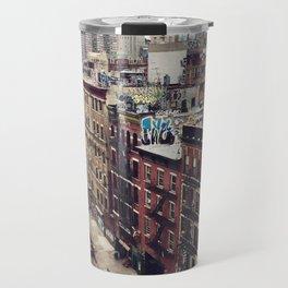 New York street views - Chinatown from Manhattan bridge Travel Mug