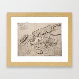 Vintage Map of Havana Cuba (1762) 2 Framed Art Print