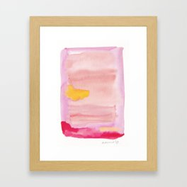 180815 Watercolor Rothko Inspired 10  Colorful Abstract   Modern Watercolor Art Framed Art Print