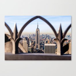 Framed Empire State Building Canvas Print