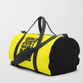 Girls Have Guns Gym Quote Duffle Bag