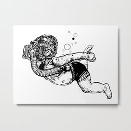 Toxic Swim Metal Print