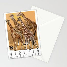Giraffes of Africa Stationery Cards