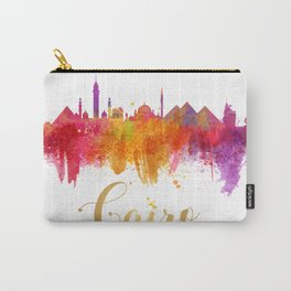 Cairo Skyline Egypt Watercolor cityscape Carry-All Pouch