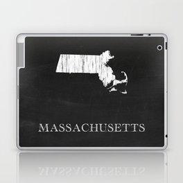 Massachusetts State Map Chalk Drawing Laptop & iPad Skin