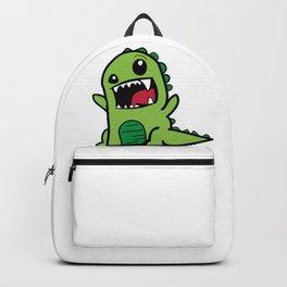 Cartoon Doodle T-Rex Dinosaur Backpack