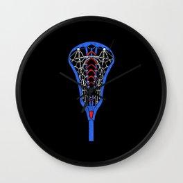 American Flag Colors Life Sport Lacrosse Wall Clock