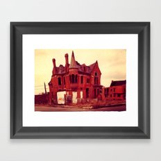 Detroit Abandoned House Framed Art Print