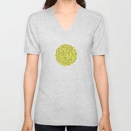 Lemon Black Dots Pattern Unisex V-Neck