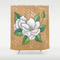 magnolia Shower Curtains featuring Magnolia by Judy Skowron