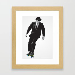 Work can wait when it's time to skate. Framed Art Print