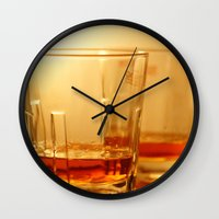 whiskey Wall Clocks featuring Whiskey by Vishal Wadhwani
