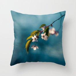 Cherry Flowers Throw Pillow