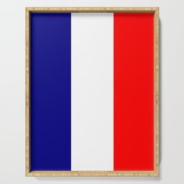 flag of france 4 Serving Tray