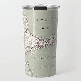 Vintage Cape Cod and Rhode Island Map (1917)  Travel Mug