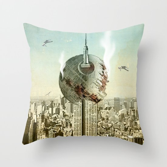 impaled on the empire Throw Pillow